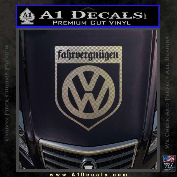 Vw Fahrvergnugen Emblem D1 Decal Sticker A1 Decals Driving pleasure, especially with regard to volkswagen vehicles.··driving pleasure. vw fahrvergnugen emblem d1 decal