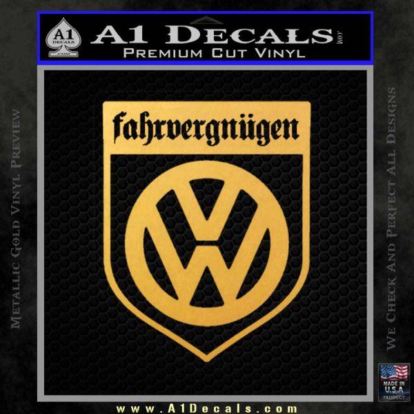 VW Fahrvergnugen Emblem D1 Decal Sticker » A1 Decals