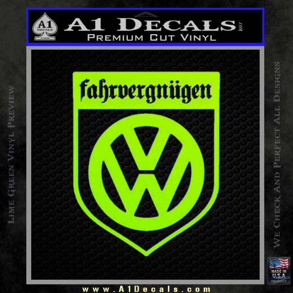 Vw Fahrvergnugen Emblem D1 Decal Sticker A1 Decals Funny sticker passion wagon car van bumper laptop window vinyl novelty decal. vw fahrvergnugen emblem d1 decal