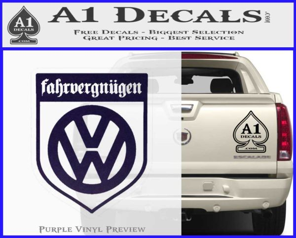 Vw Fahrvergnugen Emblem D1 Decal Sticker A1 Decals These holographic stickers with a foil texture will look great in your designs! vw fahrvergnugen emblem d1 decal