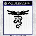 Veterinary Logo D1 Decal Sticker Black Vinyl 120x120