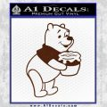 Winnie The Pooh Honey Pot Decal Sticker BROWN Vinyl 120x120