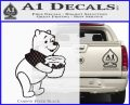 Winnie The Pooh Honey Pot Decal Sticker Carbon FIber Black Vinyl 120x97