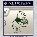 Winnie The Pooh Honey Pot Decal Sticker Dark Green Vinyl 120x120