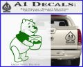 Winnie The Pooh Honey Pot Decal Sticker Green Vinyl Logo 120x97