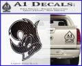 Woody Wood Pecker Decal Sticker Carbon FIber Black Vinyl 120x97