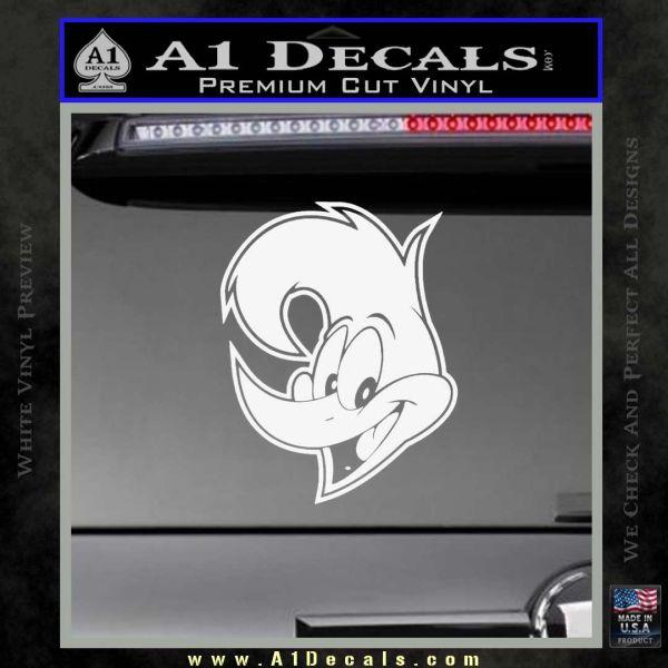 Woody Wood Pecker Decal Sticker Gloss White Vinyl