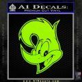Woody Wood Pecker Decal Sticker Lime Green Vinyl 120x120