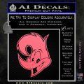 Woody Wood Pecker Decal Sticker Pink Emblem 120x120