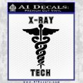 X Ray Tech Medical Decal Sticker Black Vinyl 120x120