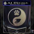 Yin Yang Hand Dog Paw Decal Sticker Carbon FIber Chrome Vinyl 120x120