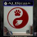 Yin Yang Hand Dog Paw Decal Sticker DRD Vinyl 120x120