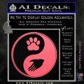Yin Yang Hand Dog Paw Decal Sticker Pink Emblem 120x120