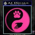 Yin Yang Hand Dog Paw Decal Sticker Pink Hot Vinyl 120x120
