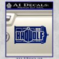 Doctor Who Bad Wolf TARDIS Mashup Decal Sticker Blue Vinyl 120x120