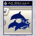 Dolphin Trio Decal Sticker Blue Vinyl 120x120