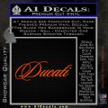 Ducati Script Font Decal Sticker Orange Emblem 120x120