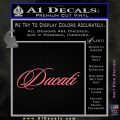 Ducati Script Font Decal Sticker Pink Emblem 120x120