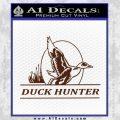 Duck Hunter Decal Sticker Intricate BROWN Vinyl 120x120