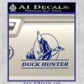 Duck Hunter Decal Sticker Intricate Blue Vinyl 120x120
