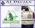 Duck Hunter Decal Sticker Intricate Green Vinyl Logo 120x97