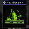 Duck Hunter Decal Sticker Intricate Lime Green Vinyl 120x120