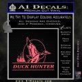 Duck Hunter Decal Sticker Intricate Pink Emblem 120x120
