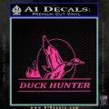 Duck Hunter Decal Sticker Intricate Pink Hot Vinyl 120x120