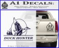 Duck Hunter Decal Sticker Intricate PurpleEmblem Logo 120x97