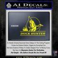 Duck Hunter Decal Sticker Intricate Yellow Laptop 120x120