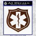 EMS Badge Decal Sticker BROWN Vinyl 120x120