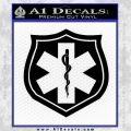 EMS Badge Decal Sticker Black Vinyl 120x120