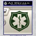 EMS Badge Decal Sticker Dark Green Vinyl 120x120
