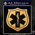 EMS Badge Decal Sticker Gold Vinyl 120x120