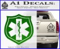 EMS Badge Decal Sticker Green Vinyl Logo 120x97