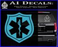 EMS Badge Decal Sticker Light Blue Vinyl 120x97