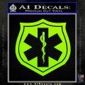 EMS Badge Decal Sticker Lime Green Vinyl 120x120