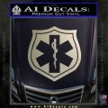 EMS Badge Decal Sticker Metallic Silver Emblem 120x120