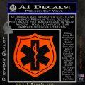 EMS Badge Decal Sticker Orange Emblem 120x120