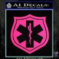 EMS Badge Decal Sticker Pink Hot Vinyl 120x120
