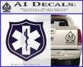EMS Badge Decal Sticker PurpleEmblem Logo 120x97