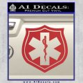 EMS Badge Decal Sticker Red 120x120