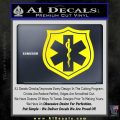 EMS Badge Decal Sticker Yellow Laptop 120x120
