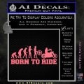 Evolution Born To Ride Motorcycle Decal Sticker Pink Emblem 120x120