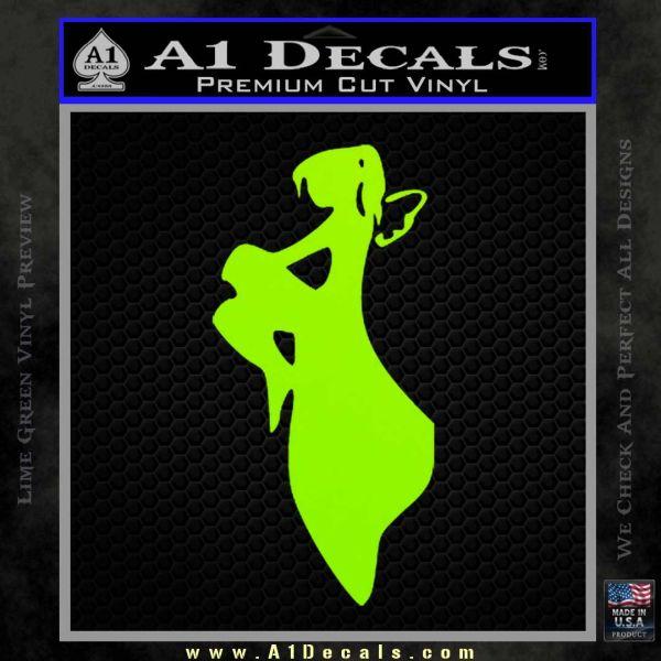 Fairy Decal D1 Decal Sticker Lime Green Vinyl
