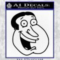 Family Guy Quagmire Decal Sticker Black Vinyl 120x120