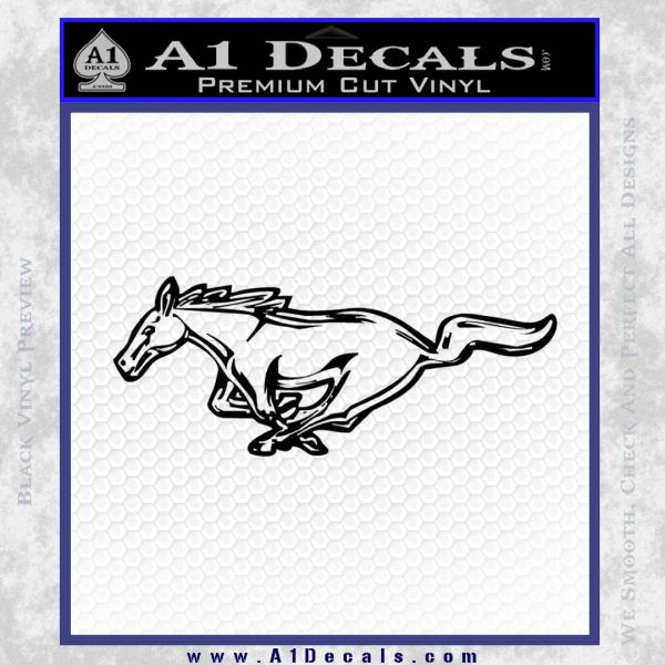 Ford Mustang DH Decal Sticker Black Vinyl
