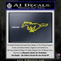 Ford Mustang DH Decal Sticker Yellow Laptop 120x120