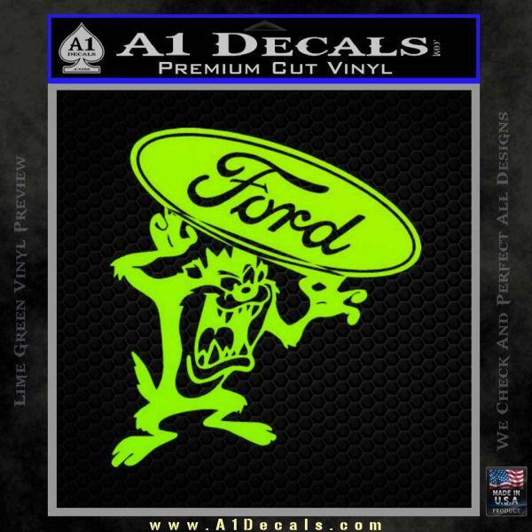 Ford Tazmanian Devil Decal Sticker 187 A1 Decals