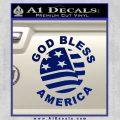 God Bless America Decal Sticker Blue Vinyl 120x120